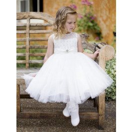 4ddfbf071 Couche Tot PIPPA Diamante & Tulle Christening | Flowergirl Dress 3001 IVORY  WHITE CHAMPAGNE or PINK | Petit Posh