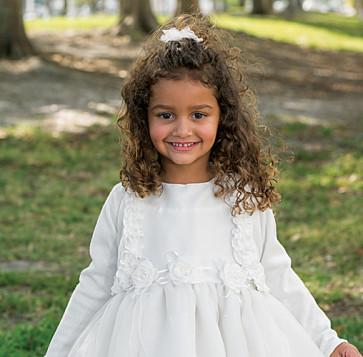 Sarah Louise 006675 Girls Cotton Bolero Cardigan WHITE