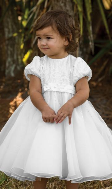 070079 Sarah Louise Fern Christening Dress white
