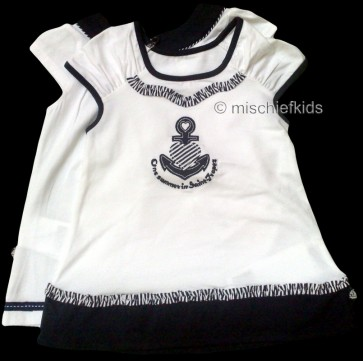 Mayoral Girls Sample 2 year top in Navy/White 28598