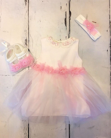 Couche Tot CT371820 Baby Dress Shoes & Headband GIFT BOXED