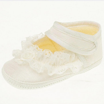 Early Days ELENA Lace Pram Shoe IVORY or WHITE E009