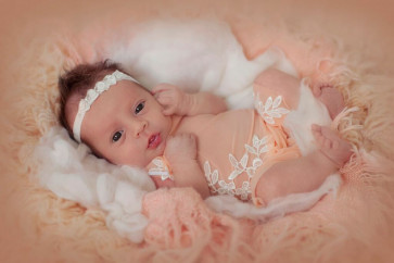 Cutey Roses & Swarovski Crystals Baby Headband