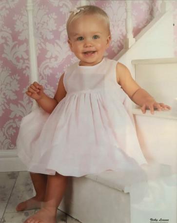 Sarah Louise 003761 Triple Layer Slip Dress PINK