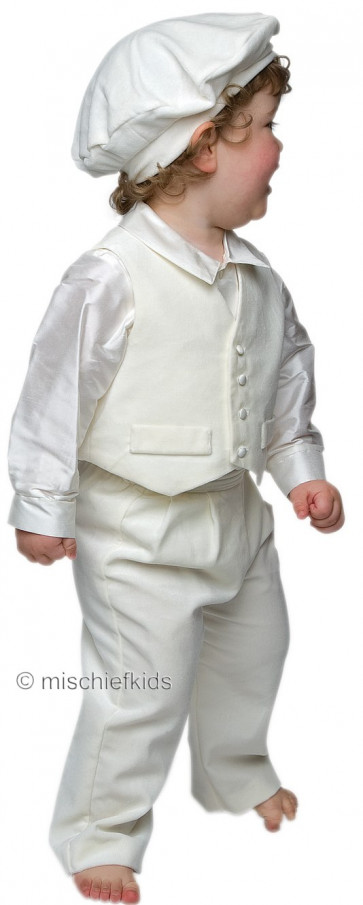 Little Darlings A5202 Harrison Velvet n Silk Christening Set