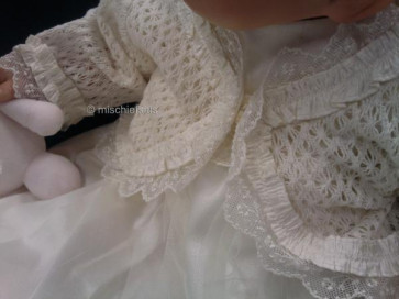 Little Darlings 8123 AVA Ivory Lace Knit Silk Trim Cardigan