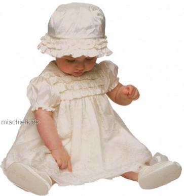 Little Darlings BS8120 Jemima Ivory Silk Christening Dress Set