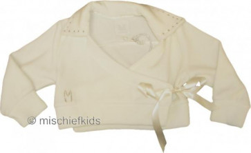 Miss Grant 18631 Ivory Wrap Front Cardigan