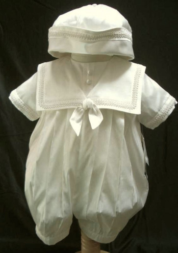 Sarah Louise 238i Ivory Short Sleeve Silk Romper