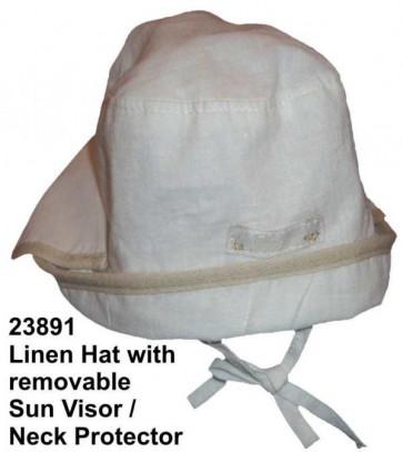 La Petite Ourse 23891 White Linen Hat