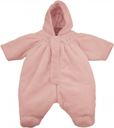 Emile et Rose 24010 1321 Baby Pink Fleece Snowsuit