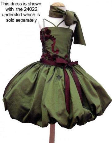 OCCASIONS 24020 Olive Gleam Glamourball Dress