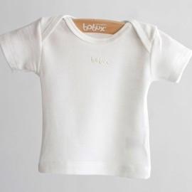 Bobux B0321 Vanilla Merino and Cotton Short Sleeve Vest Top