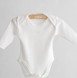 Bobux B0355 Vanilla  Merino and Cotton Long Sleeve Body Suit Vest