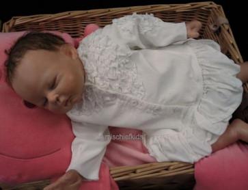 Taille O 24762 Sample White Corduroy Dress