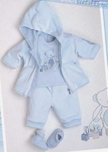 La Petite Ourse 24394 Sample  Blue Teddy Top CIEL