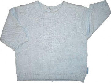 La Petite Ourse 24397 Sample  Blue Cotton Knit Sweater CIEL