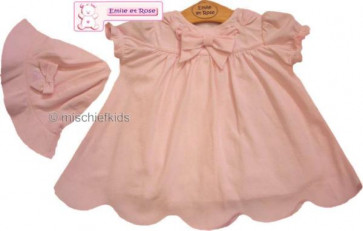 Emile et Rose 25203 6133 Pink Dress Panties and Hat Se