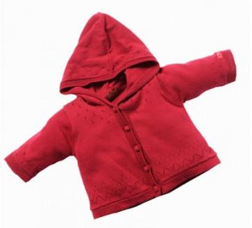 La Petite Ourse 25656 Sample  Hooded Cardigan FLEURS