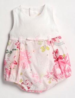La Petite Ourse 25657 Sample  Pink Bubble Suit FLEURS