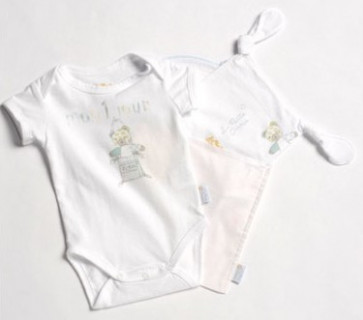 La Petite Ourse 25700 Sample Bodysuit and Dou Dou Comforter Set WAS £21.99 NOW £5.99