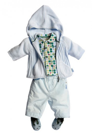 La Petite Ourse 25708 Newborn Sample  Spot Shirt  WAS £18.99 NOW £4.99