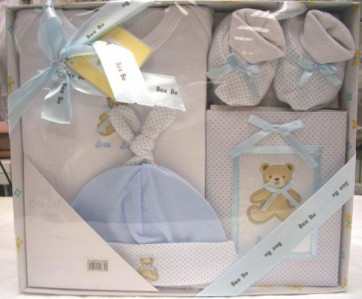 NEWBORN 25951b Blue 4 Piece Photo Album Box Set