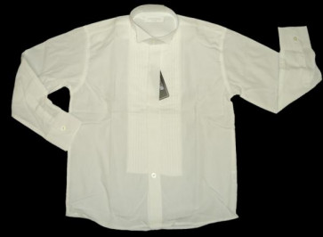 Sebastian Le Blanc EB001i Ivory Wing Collar Pintuck Shirt