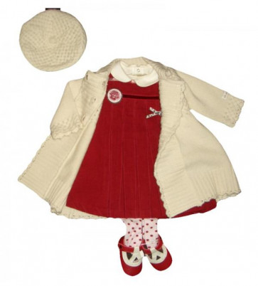 La Petite Ourse 26239 Newborn Sample Top and Dress Set  WAS £57.99 NOW £14.99
