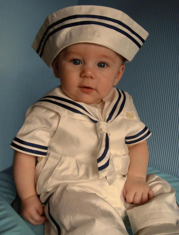 Little Darlings A2784 Duke Victorian Sailor Silk Christening Set