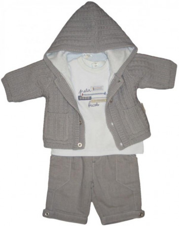 La Petite Ourse 26316 Newborn Sample  Grey Trousers  WAS £35.99 NOW £8.99