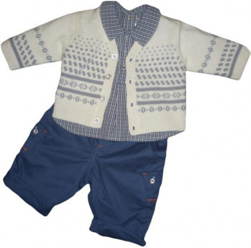 La Petite Ourse 26317 Newborn Sample  Check Shirt  WAS £27.99 NOW £6.99
