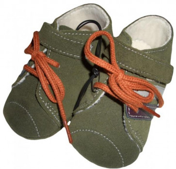 La Petite Ourse 26387 Miniman Baby  Sample Khaki Pram Shoes CAMPUS