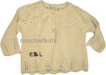Eliane et Lena 26764 Sample Cream Knit Cardigan GOLDEN