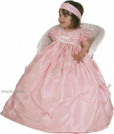Little Darlings G9010 Tamara Silk Christening Robe Set PINK