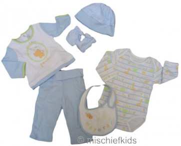Mayoral 27245b Baby Blue 6 Piece Gift Set