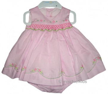 Mayoral 27251p Baby Pink Smock Dress Set