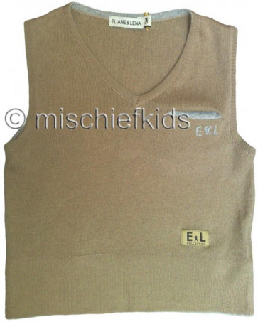 Eliane et Lena 27700 Boys Sample Brown Fine Knit Tank Top BROUSSE