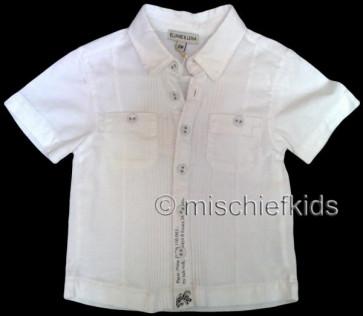Eliane et Lena 27704 Boys Sample White Short Sleeve Shirt BROUSSE