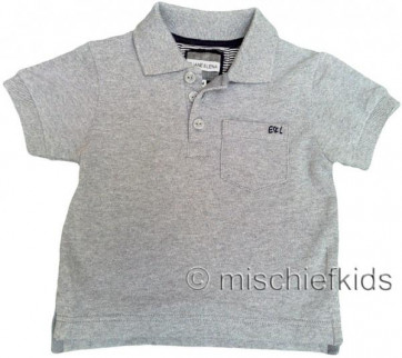 Eliane et Lena 27714 Boys Sample Grey Polo Shirt HINDY GO