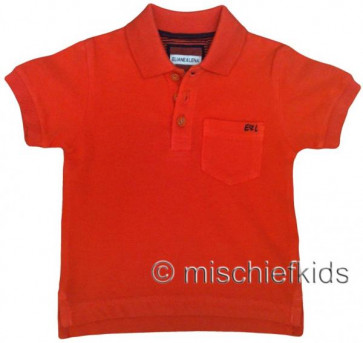 Eliane et Lena 27715 Boys Sample Orange Polo Shirt HINDY GO