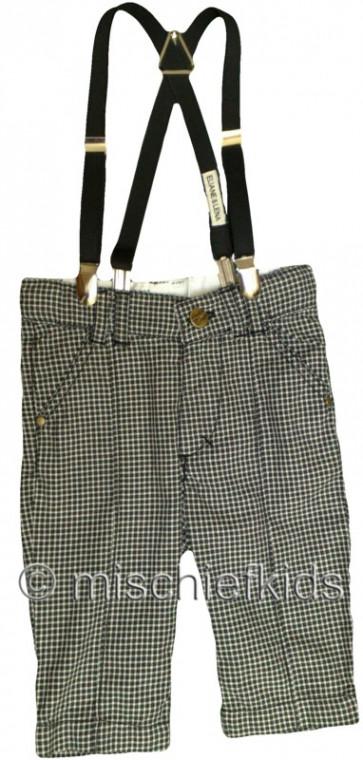 Eliane et Lena 27730 Boys Sample Check Trousers n Braces HINDY GO