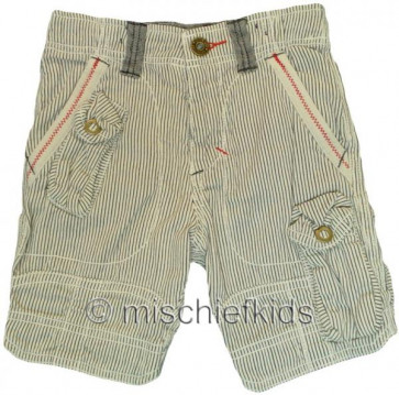 Eliane et Lena 27754 One Up Sample Beige Stripe Shorts MR CORTO