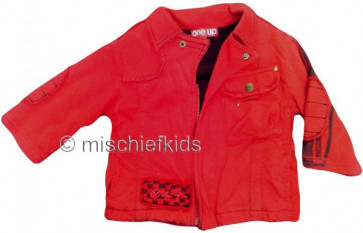 Eliane et Lena 27758 One Up Sample Red Zip Cardigan Jacket MR CORTO