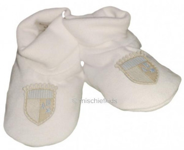 La Petite Ourse 27523 Sample White Booties GARCON