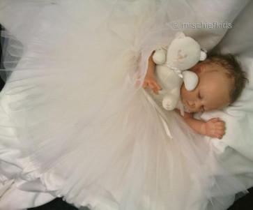 Kate Mack KM330w Precious Heirloom White Tulle Dress