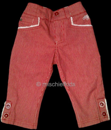 Mayoral 28575 Girls 2yr Sample Red Stripe Crop Trousers