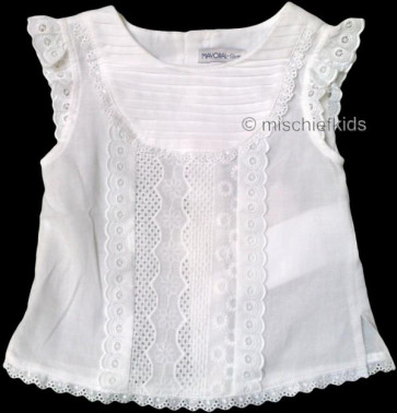 Mayoral 28632 Girls 2yr Sample Broiderie Anglaise Top
