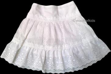 Mayoral 28633 Girls 2yr Sample Broiderie Anglaise Skirt