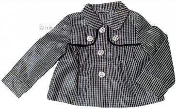 Mayoral 28652 Girls 2yr Sample Black Gingham Jacket